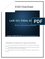 LAW 531 Final Exam Latest UOP Assignments