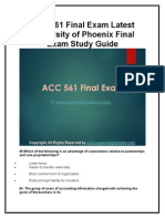 ACC 561 Final Exam Latest University of Phoenix Final Exam Study Guide