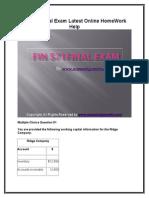 FIN 571 Final Exam Latest Online HomeWork Help