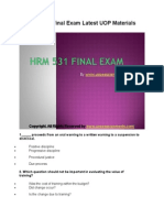 HRM 531 Final Exam Latest UOP Materials