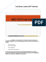 MGT 521 Final Exam Latest UOP Tutorials