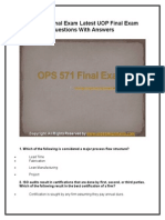 OPS 571 Final Exam Latest UOP Final Exam Questions With Answers