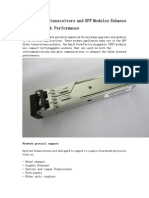 How Optical Transceivers and SFP Modules Enhance Fiber Network Performance