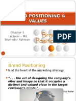 Chapter 3 - Brand Positioning and Values