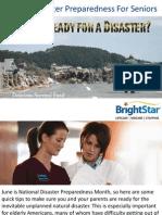 Natural Disaster Preparedness For Seniors