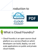 Introduction To Cloud Foundry - SpringPeople