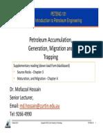 Lecture 3 -Generation Migration Trap