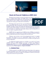 Dossier de prensa MWC de Telefonica presidida por César Alierta