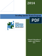 2014 Invading Species Watch Program Annual Report