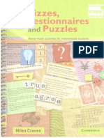 Quizzes, Questionnaires and Puzzles (Intermediate)
