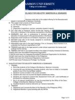 Adamson Arki OJT Guidelines