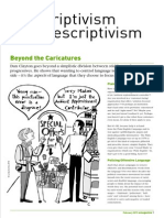 Prescriptivism and Descriptivism