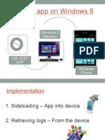 IDS Test App on Windows 8