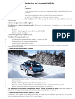 8 Sfaturi Pentru Condus in Siguranta in Conditii Dificile