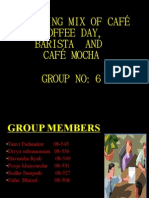Marketing Mix of Ccd , Barista & Mocha