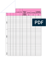 6 Weeks Performance Measurement Sheet