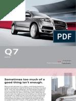 Audi Q7 2012 Misc Documents-Brochure