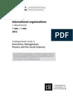 International organisations University of London