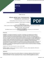 Afasia Global Sem Hemiparesia AVC Ou Transtorno Conversivo