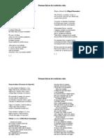 LÍRICA CULTA (Poemas)