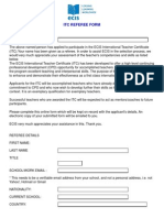 ITC Referee Form