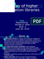 History of Higher Education Libraries