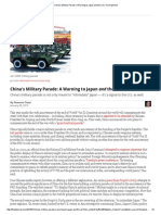 China's Military Parade_ a Warning to Japan and the US _ the Diplomat