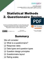 2 Questionnaire Design 2