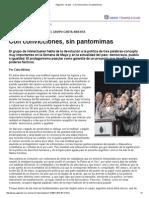 Carta 19 - Con Convicciones, Sin Pantomimas
