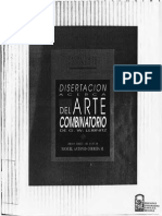 Leibniz Gottfried Wilhelm - Disertacion Acerca Del Arte Combinatorio