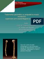 Tratamentul Pacientilor Cu Amputatii La Nivelul Membrelor Superioare Prin Osseointegrare Si Protezare