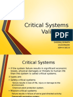 Critical System Validation