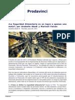 Anabella Abadi y Marinell Falcón - La Seguridad Alimentaria en Venezuela