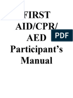 FIRST AID table of contents.doc