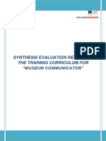 Synthesis Evaluation Report on MUCOM Training Curriculum