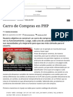 Carro de Compras en PHP