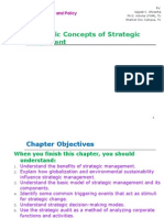 Ch 1 Introduction to Bsusiness Strategy and Policy