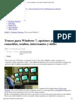 Trucos Para Windows 7, Mas Opciones, Utilidades Ocultas y Utiles