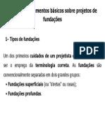Capitulo 2 - Elementos Basicos Sobre Projetos de Fundações