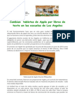 Cambian Tabletas de Apple Por Libros de Texto en Las Escuelas de Los Angeles