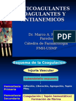 Farmacologia - Coagulantes, Anticoagulantes y Antianémicos