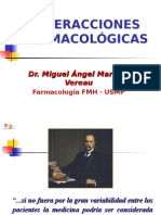 Farmacologia - Interaciones Farmacológicas