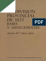 [1987] AMOR, Antonio Maria Calero. La División Provincial de 1833