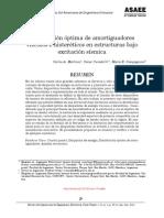 Distribución óptima de amortiguadores viscosos e histeréticos en estructuras bajo excitación sísmica