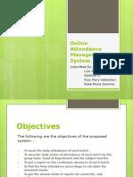 Online Attendance Management System