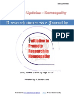 Research Updates-Homeopathy Vol 4 Issue 2