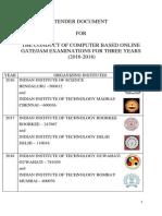 GATE 2016 Tender Document