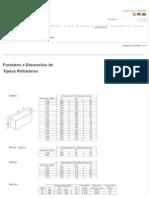 Formatos e Dimensões de Tijolos Refratários