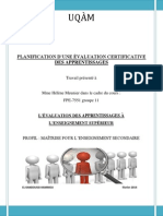 el kandoussi g11 - tp1  planification de l valuation certificative