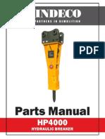 HP4000 Parts Manual
